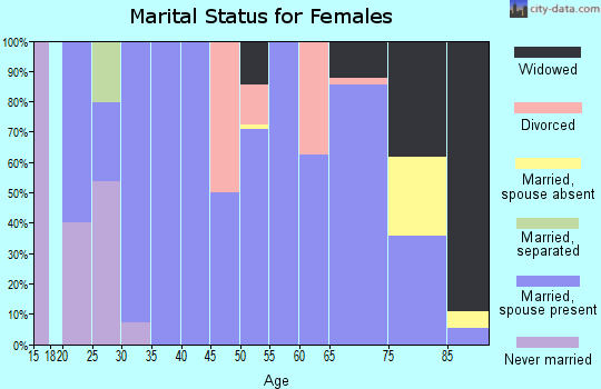 Zip code 69140 marital status for females