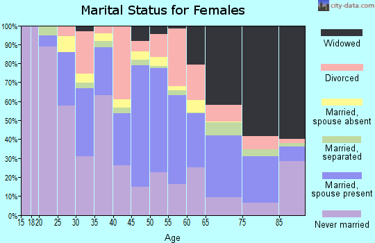Zip code 71052 marital status for females