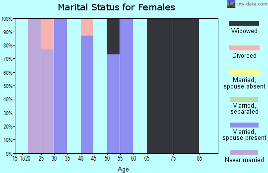 Zip code 71441 marital status for females