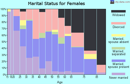 Zip code 71463 marital status for females