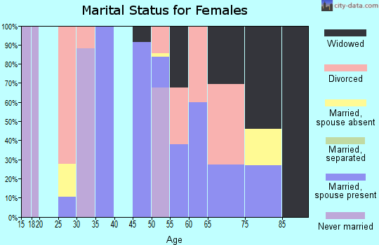 Zip code 71838 marital status for females