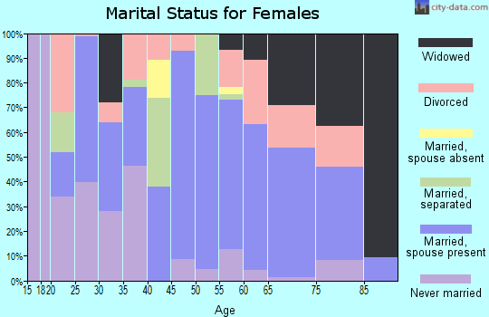 Zip code 71851 marital status for females