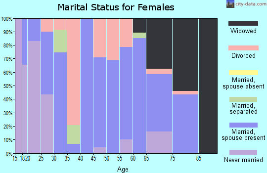 Zip code 71945 marital status for females