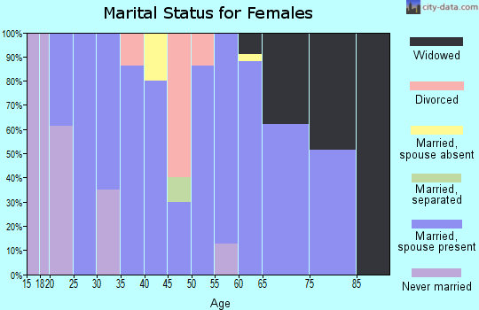 Zip code 72459 marital status for females