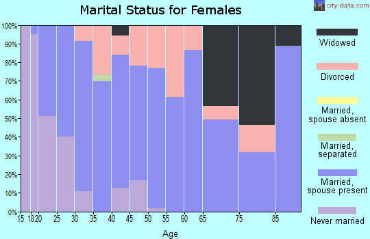 Zip code 73433 marital status for females