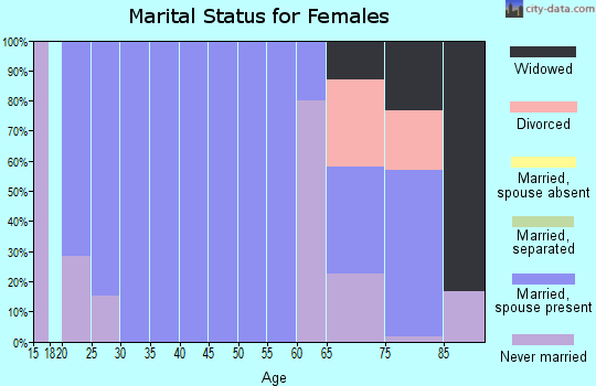 Zip code 73532 marital status for females