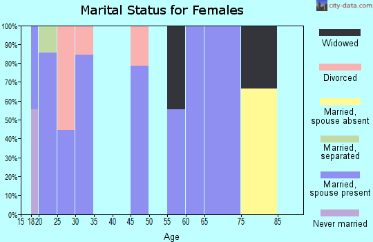 Zip code 73544 marital status for females