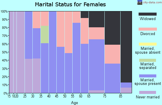 Zip code 73547 marital status for females