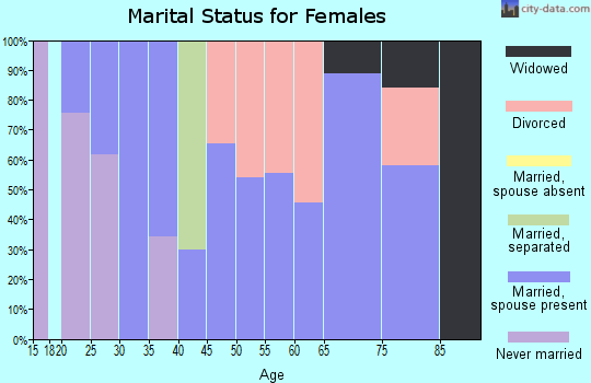 Zip code 73567 marital status for females