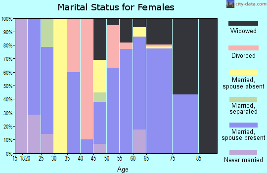 Zip code 73655 marital status for females