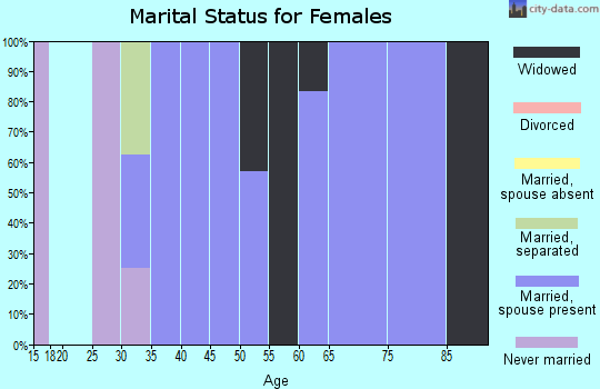Zip code 73666 marital status for females