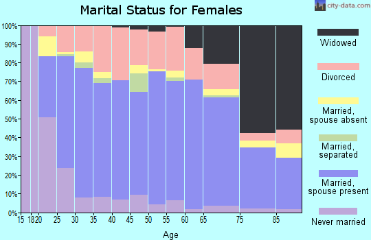 Zip code 73703 marital status for females