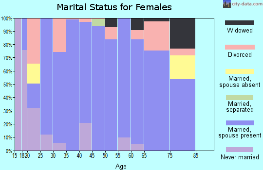 Zip code 74080 marital status for females