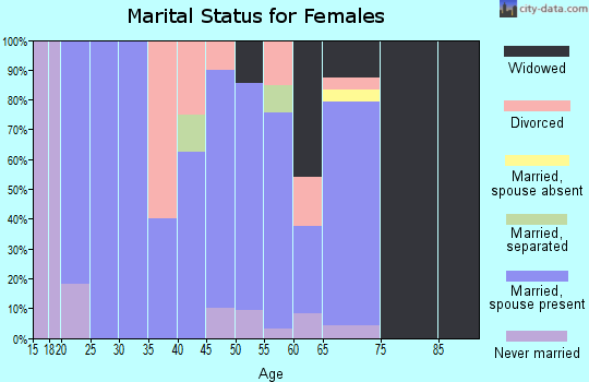 Zip code 74560 marital status for females