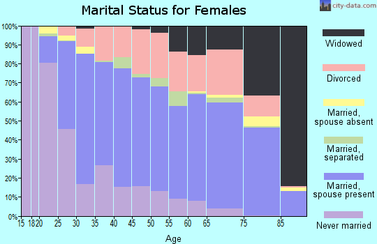 Zip code 75080 marital status for females