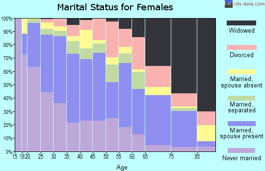 Zip code 77036 marital status for females