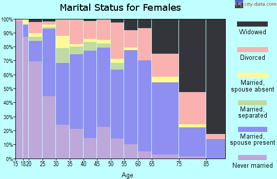Zip code 77040 marital status for females