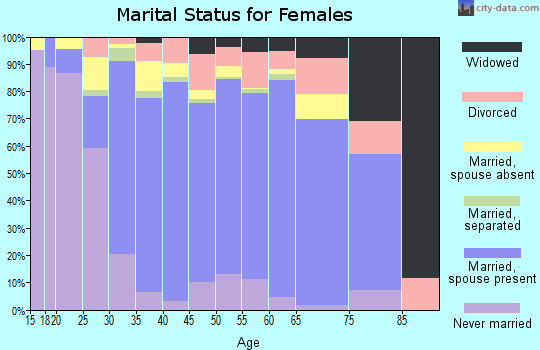 Zip code 77041 marital status for females
