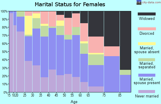 Zip code 77061 marital status for females