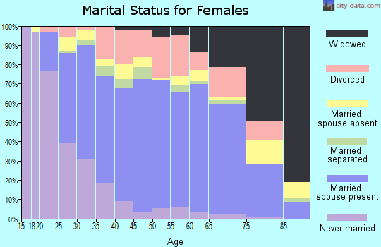 Zip code 77064 marital status for females