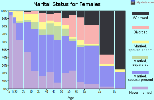 Zip code 77080 marital status for females