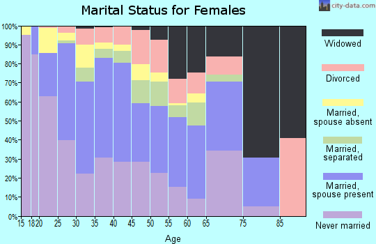 Zip code 77081 marital status for females