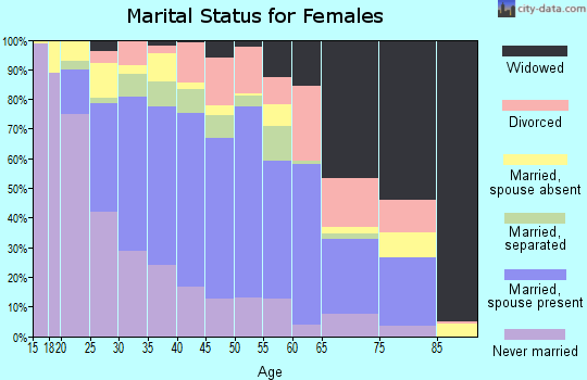 Zip code 77093 marital status for females