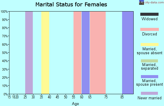 Zip code 77451 marital status for females