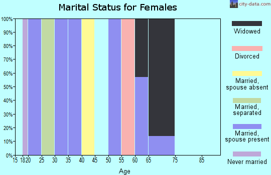 Zip code 77475 marital status for females