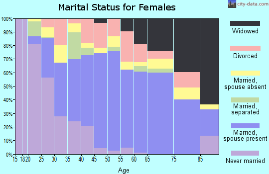 Zip code 77541 marital status for females