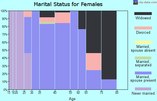 Zip code 77582 marital status for females