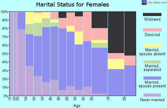 Zip code 77587 marital status for females
