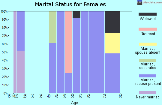 Zip code 77663 marital status for females