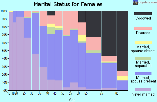 Zip code 77706 marital status for females