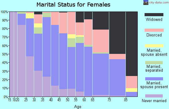 Zip code 77802 marital status for females