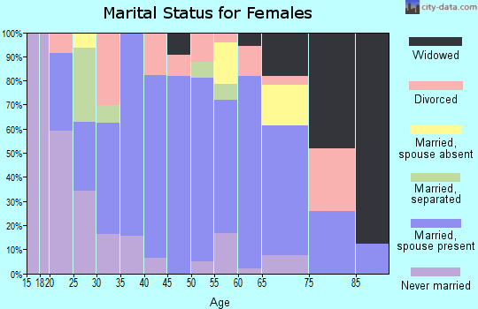 Zip code 77856 marital status for females