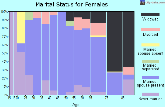 Zip code 77984 marital status for females