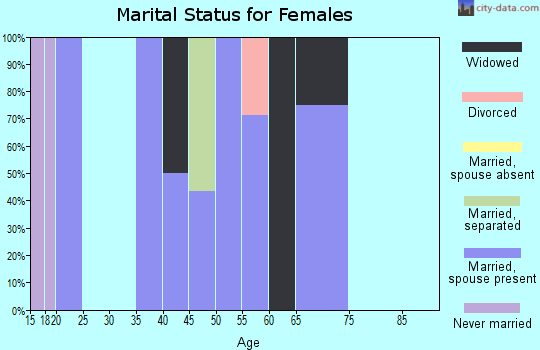 Zip code 78050 marital status for females