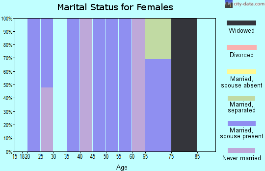 Zip code 78057 marital status for females