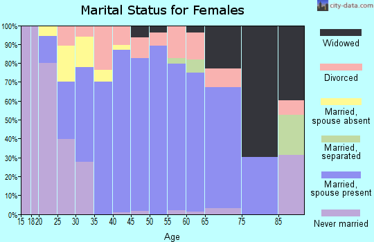 Zip code 78070 marital status for females