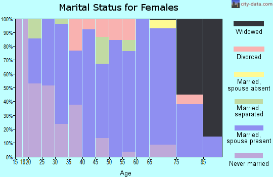 Zip code 78071 marital status for females