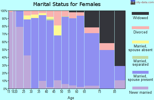 Zip code 78132 marital status for females