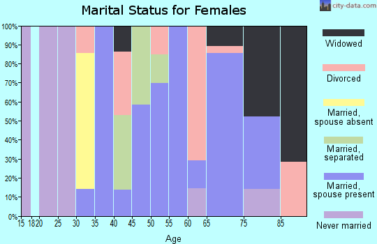 Zip code 78141 marital status for females