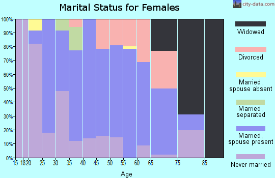 Zip code 78164 marital status for females