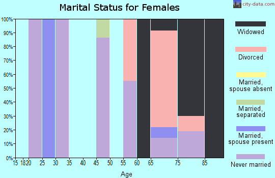Zip code 78205 marital status for females