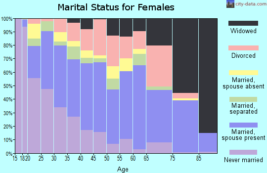 Zip code 78211 marital status for females