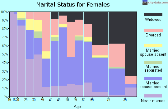 Zip code 78225 marital status for females
