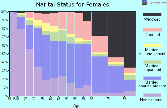 Zip code 78228 marital status for females