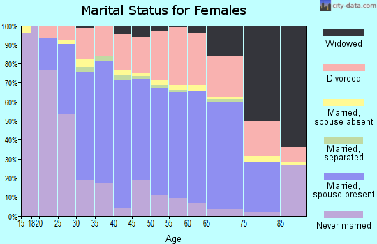 Zip code 78247 marital status for females