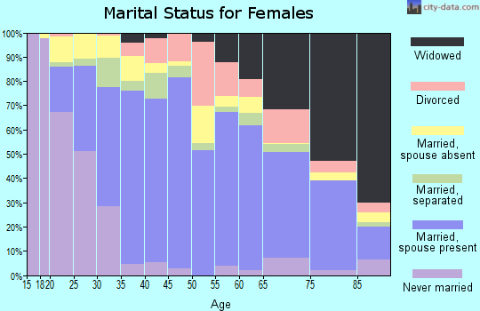 Zip code 78503 marital status for females